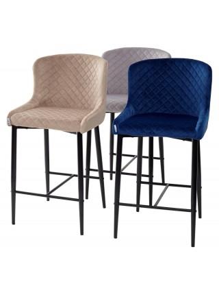 Барный стул ARTEMIS глубокий синий, велюр G108-67 (H=65cm) М-City