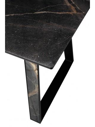 Стол Франк 160 Мейджик, стекло / Мейджик, черный М-City