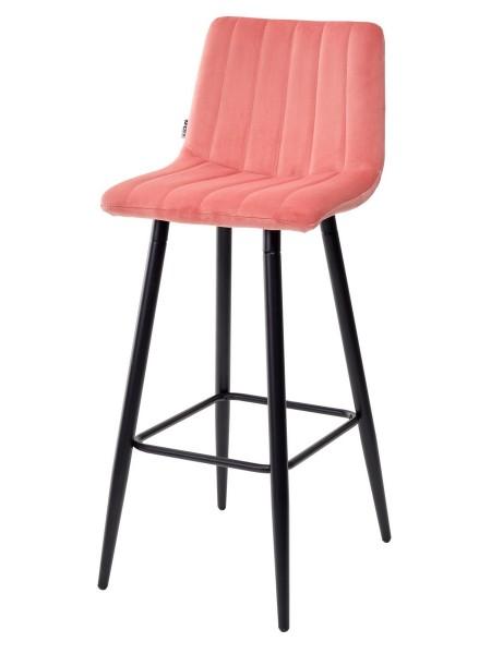 Барный стул DERRY G108-17 живой коралл, велюр М-City