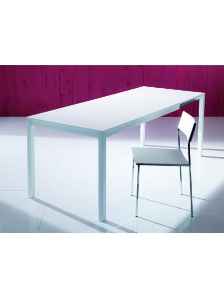 Стол MAGO (01.34) 100/140*70*Н75 см (М089/ M089/ С182 тем-кор.мат ст+L072алюм.)