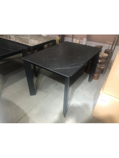 Стол CORNER 120 MATT BLACK MARBLE SINTERED STONE/ BLACK М-City