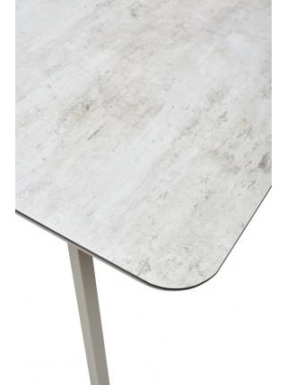 Стол ARUBA 140 BEIGE/ CAPPUCINO глазурованное стекло М-City