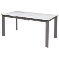 Стол CORNER 120 CERAMIC MARBLE глянцевая керамика/ GREY1 М-City