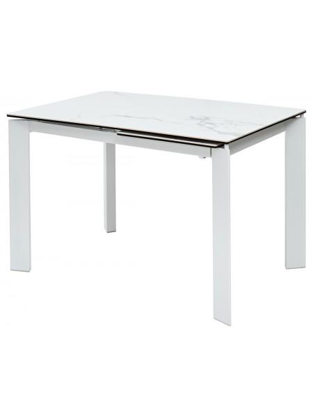 Стол CORNER 120 MATTE STATUARIO керамика/ белый каркас М-City