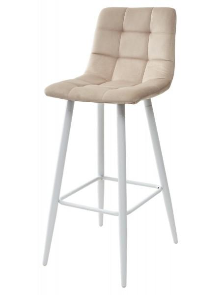 Барный стул LECCO UF910-01 LATTE, велюр/белый каркас М-City