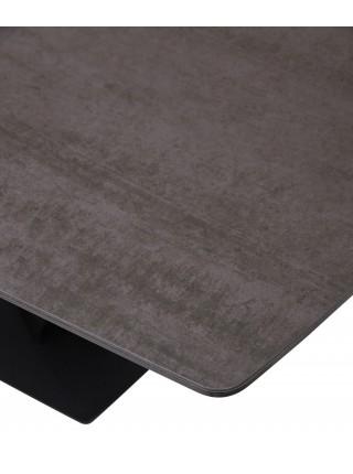 Стол ACUTO 180 TL-59 BLAZE DARK Базальт, испанская керамика/ черный каркас М-City