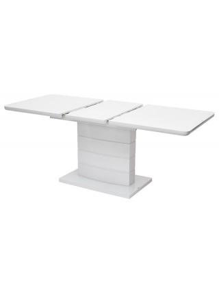 Стол ALTA 120 WHITE / супер белое глянцевое стекло М-City