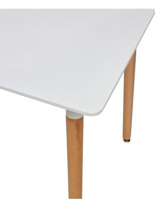 Стол TANSY 120 белый/массив бука М-City