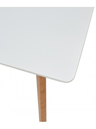 Стол ABELE 120 белый/массив бука М-City