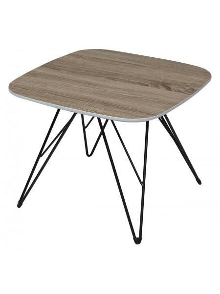 Стол журнальный WOOD82 #4 дуб серо-коричневый винтажный M-city