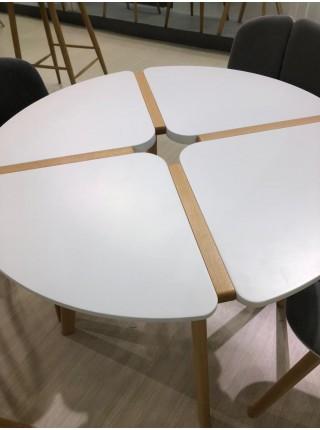 Стол JASMINE D90 белый/массив бука М-City