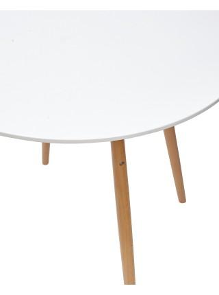 Стол CLIDE D90 белый/массив бука М-City