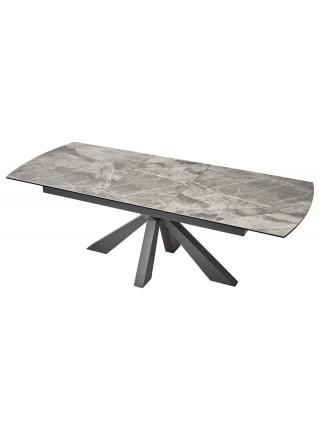 Стол ROVIGO 170 ITALIAN DARK GREY Серый мрамор глянцевый, керамика/ GREY1 каркас М-City