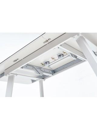 Стол ARUBA 120 BEIGE/ CAPPUCINO глазурованное стекло М-City