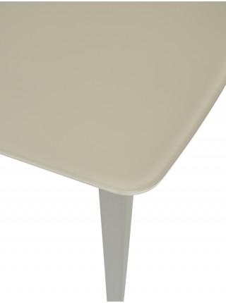 Стол ELIOT 120 GREY9 матовое стекло цвет шампань/ GREY9 каркас М-City
