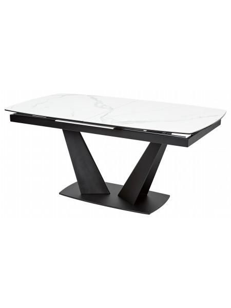 Стол ACUTO2 170 MATTE STATUARIO Белый мрамор матовый, керамика/ черный каркас М-City