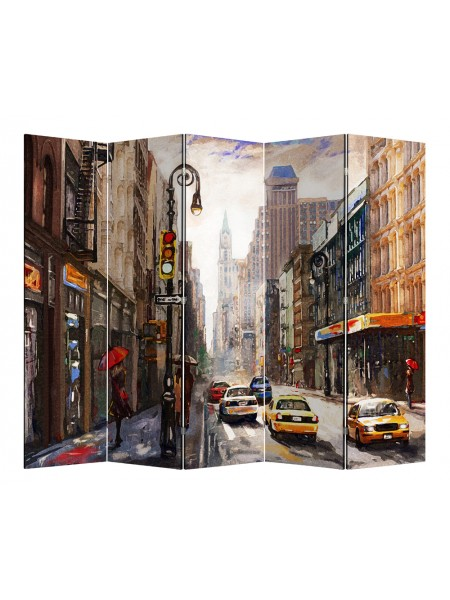 """Ширма 1218-5 """"Нью-Йорк"""" (5 панелей)"""