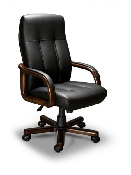 Компьютерное кресло Forum-A LX (орех темный/экокожа Черный)