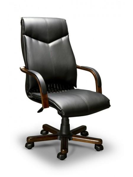 Компьютерное кресло Barbara-A LX(орех темный/экокожа Черный)