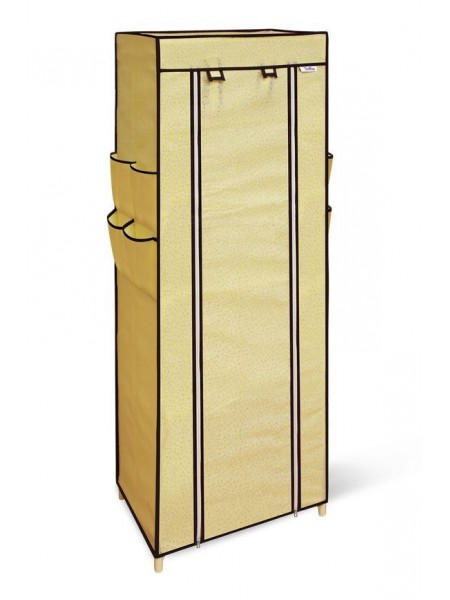Стеллаж c чехлом SHT-SS15-P (пластик-плотная ткань/бежевый-бежевый)