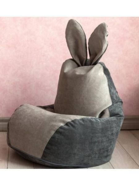 """Кресло """"Зайчик"""" серый"""