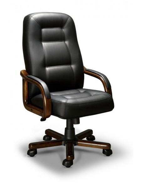 Компьютерное кресло Victoria-A LX(орех темный/экокожа Черный)