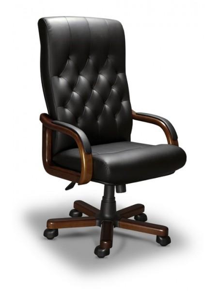 Компьютерное кресло Oxford-A LX (орех темный/экокожа Черный)