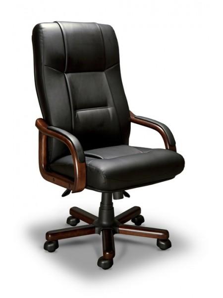 Компьютерное кресло Бонн-А LX (орех темный/экокожа Черный)