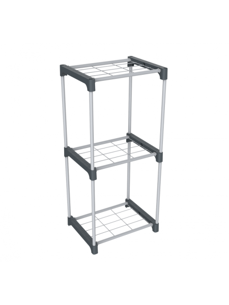 Стеллаж SHT-SS6-Р Sheffilton (пластик-металл/серый, темно-серый)