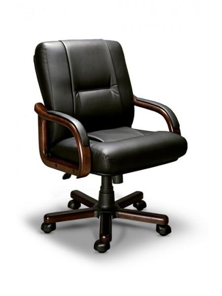 Компьютерное кресло Бонн-В LX (орех темный/экокожа Черный)