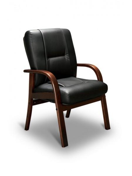 Компьютерное кресло Бонн-D LX (орех темный/экокожа Черный)