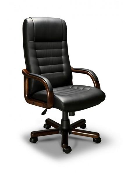 Компьютерное кресло Myra-A LX (орех темный/экокожа Черный)