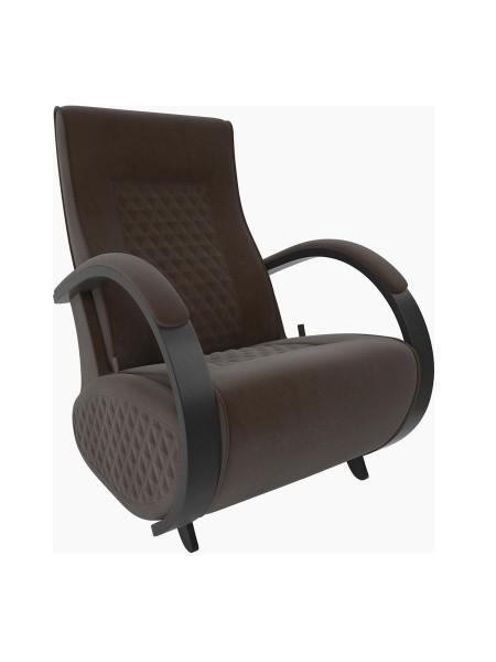 Кресло-гляйдер Баланс 3 c накладками (Венге/шпон/ Verona Brown)