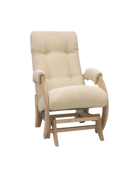 Кресло гляйдер Модель 68 (Verona Vanilla /Натуральное дерево/Шпон)