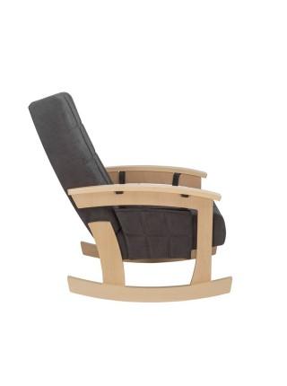 """Кресло качалка """"НОРДИК"""" (нат. дерево/Verona Antrazite Grey)"""