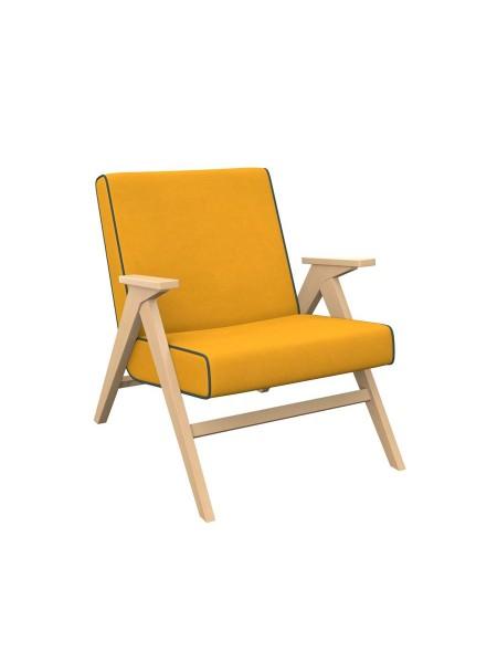 """Кресло """"Вест"""" (Натуральное дерево/ткань Fancy 48/ кант Fancy 37 )"""