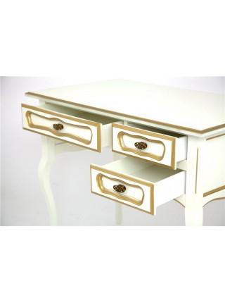 Стол 22 (Слоновая кость+золотая патина) малый