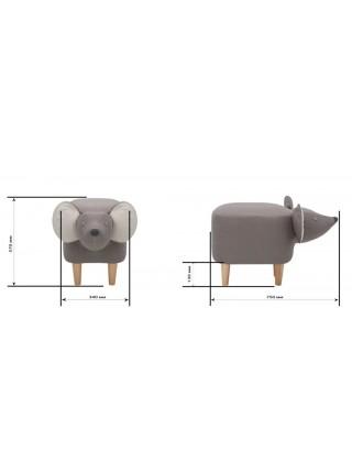 Пуф Mouse COMBI (ткань Milos 16/Milos 02)