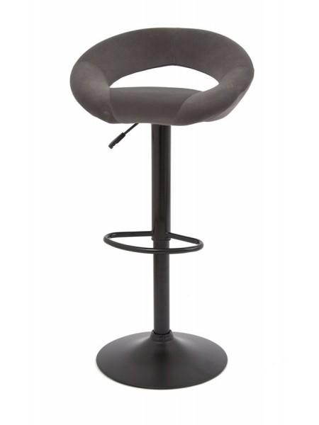 Барный стул S-905 (GREY B-1004 velvet / черный) БАЗОВЫЙ