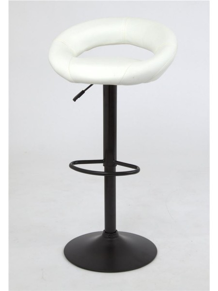 Барный стул S-905F (PU WHITE / черный) КОМБИНИРОВАННЫЙ