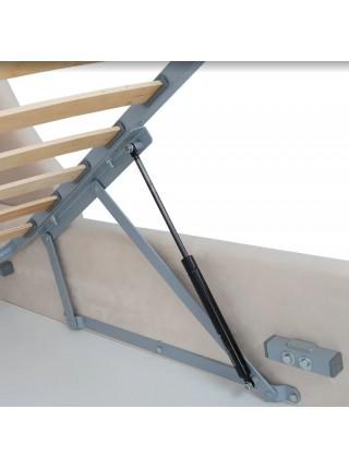 Кровать Hugo FENIX (бежевая экокожа) 1600*2000 комплектация LUXE с подьемным механизмом
