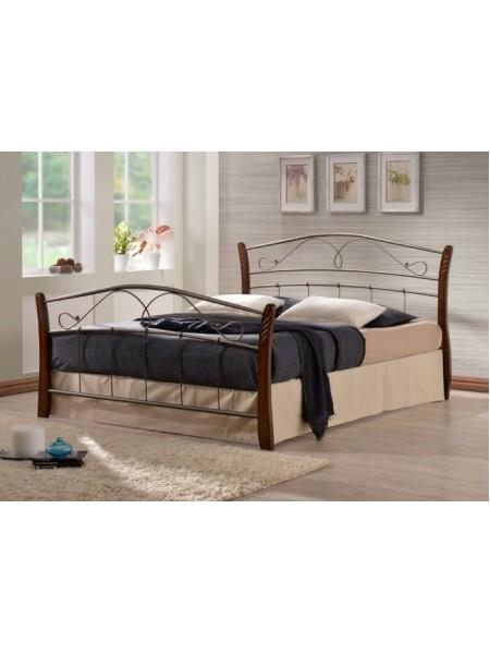Двуспальная кровать Патрисия (Patrisia-160х200) Темный орех