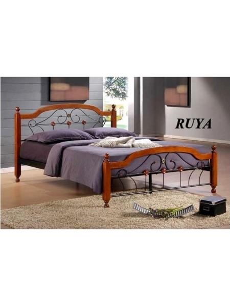 Двуспальная кровать Руя (Ruya) (160х200) Темный орех