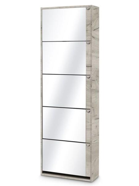 Обувница Комфорт К-5S (Дуб Крафт/Зеркало)
