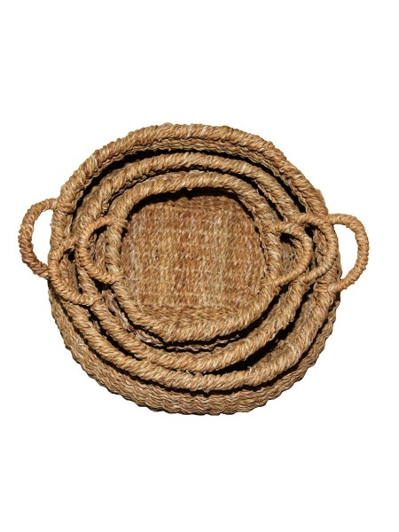 Комплект из 3х плетеных корзин BDH-25 (Джут)