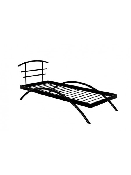 Кровать односпальная САКУРА (90х200/металлическое основание) Коричневый бархат