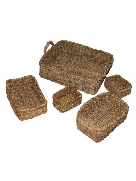 Комплект плетеных корзин 5шт. BDH-52 (Джут)