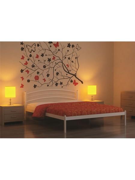 Кровать односпальная ЭКО+ (90х200/металлическое основание) Белый
