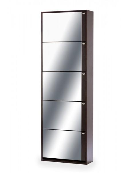 Обувница Комфорт К-5S (Венге/Зеркало)
