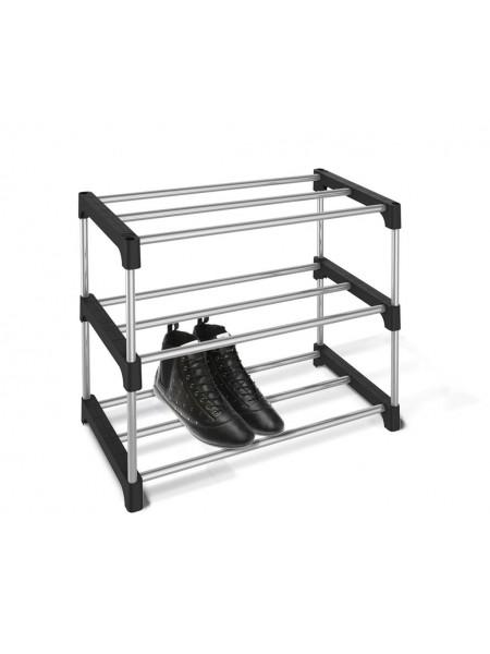 Подставка для обуви SHT-SR-6 (пластик-металл/черный-хром лак)
